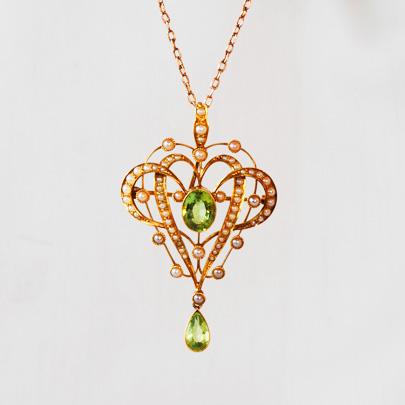 Goldperidot pearl pendant goodwill goldperidot pearl pendant mozeypictures Choice Image